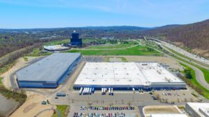 Aerial photo of the Stateline Business Park taken from 400 feet from the South.