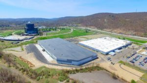 An overhead perspective of the completed Stateline Business Park project in Mahwah, New Jersey.