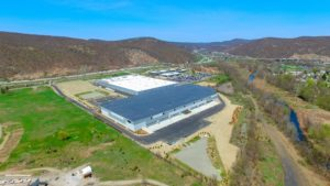 Completed Stateline Business Park project aerial photo.