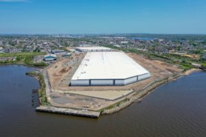 Steel Run Logistics construction project aerial photo of two warehouses