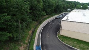 Paving and retaining walls completed at the Subaru Warehouse