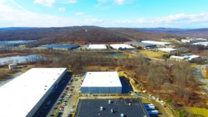 Aerial perspective of the TWW Tires warehouse project completed.