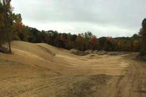 Sculpted soil at for a golf course fairway at the Loops in Newburgh, New York.