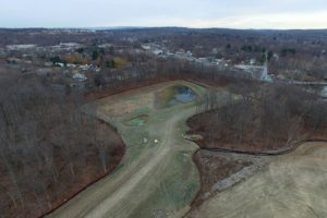 Aerial view of the Loops golf course project.