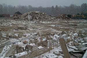 Demolition and site preparation.