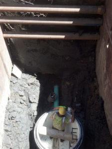 Water culvert installation.