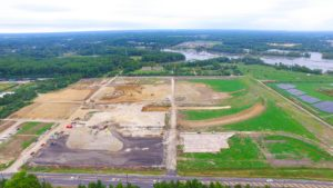 Clearing and site preparation for the West Deptford Distribution Center.