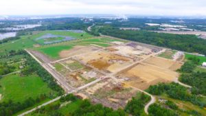 West Deptford Distribution Center aerial photo taken from the North West.