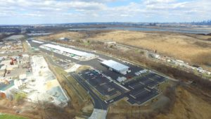 Aerail perspective of the FedEx Distribution Center North East from 350 feet.