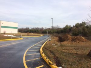 Curb and paving work completed for Insterstate Boulevard Phase 1 project in South Brunswick, New Jersey.