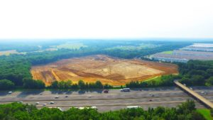 Land development of the Interstate Boulevard Phase 2 project.