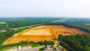 Site preparation for the Interstate Boulevard Phase 2 project.