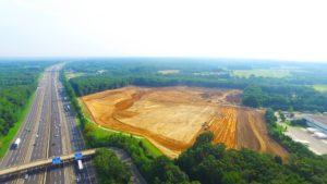 Preliminary site excavation.