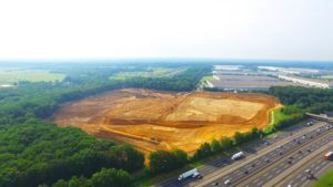 Grading and earthwork of the Interstate Boulevard Phase 2 project