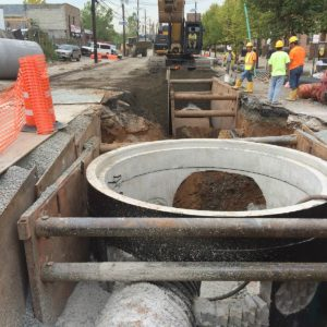 Sip Ave sewer construction