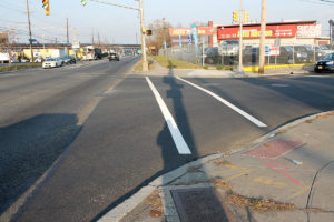 Painted cross walks and paving at the Sip Ave project