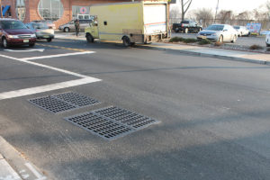 Completed water culverts, paving and painted road markings at the Sip Ave project
