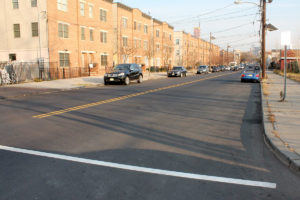 Asphalt paving and painted lines at the Sip Ave project
